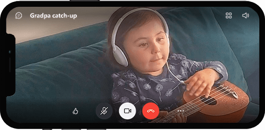 Video call on mobile device