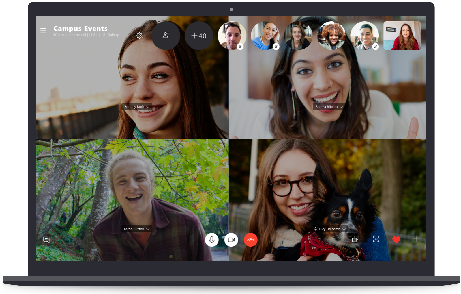 Group Video Call on Skype Desktop