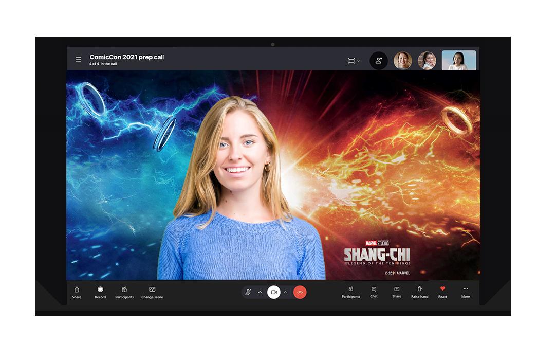 Video call on desktop device