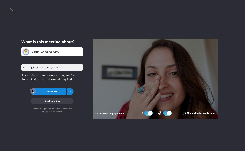 Criar sua chamada Reunir Agora com título e emoticon personalizados