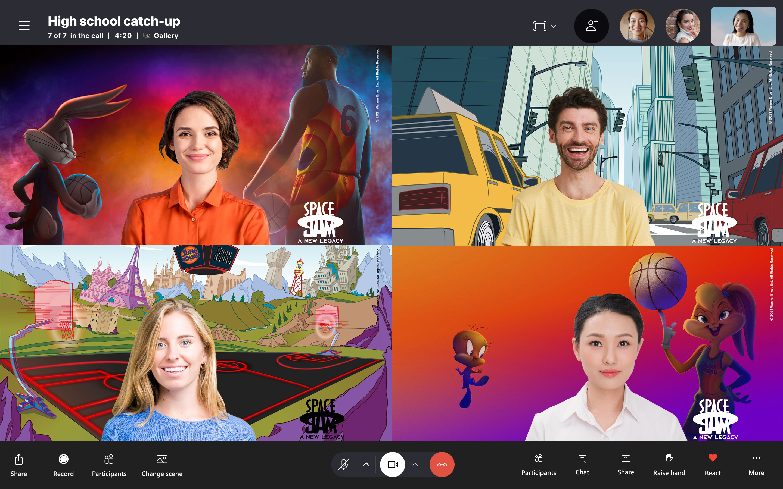 Sfondi sostitutivi dedicati a Space Jam su Skype