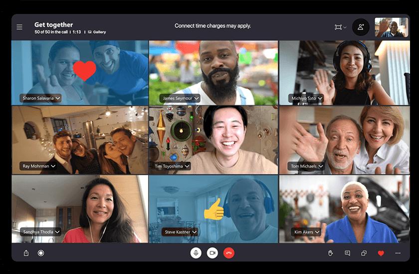 タブレットで Skype