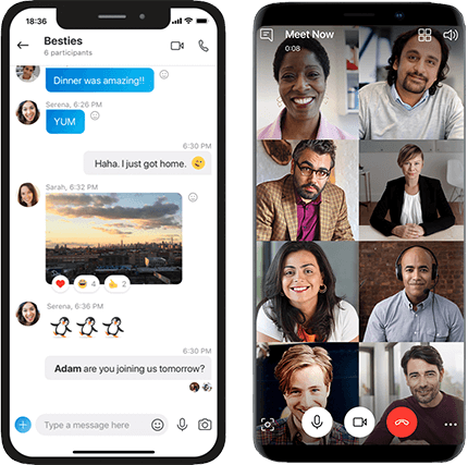 Skype on mobile device