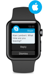 Skype na zegarek Apple Watch