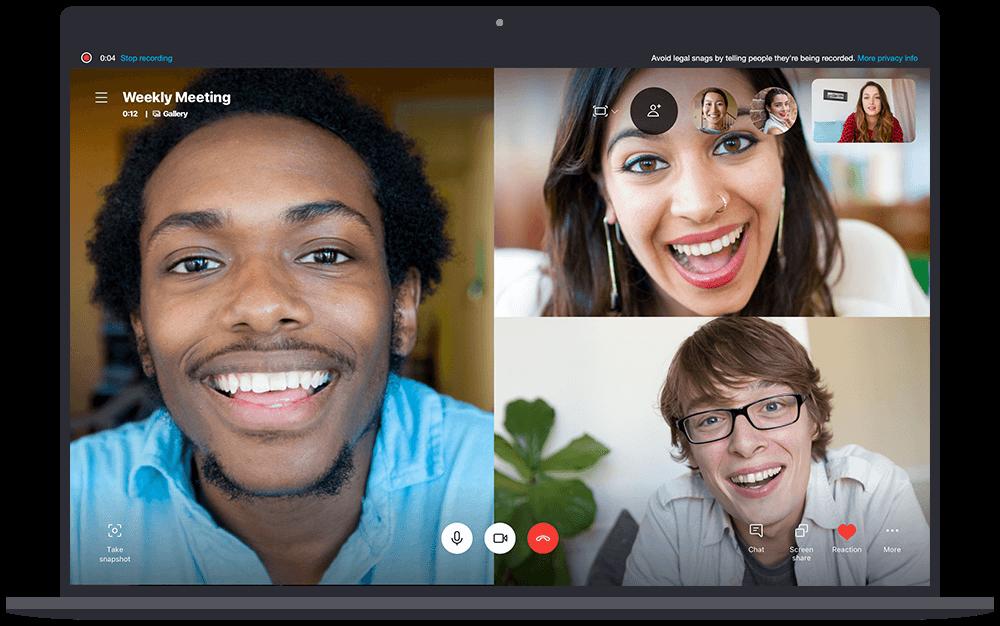 Gravação de chamadas no Skype