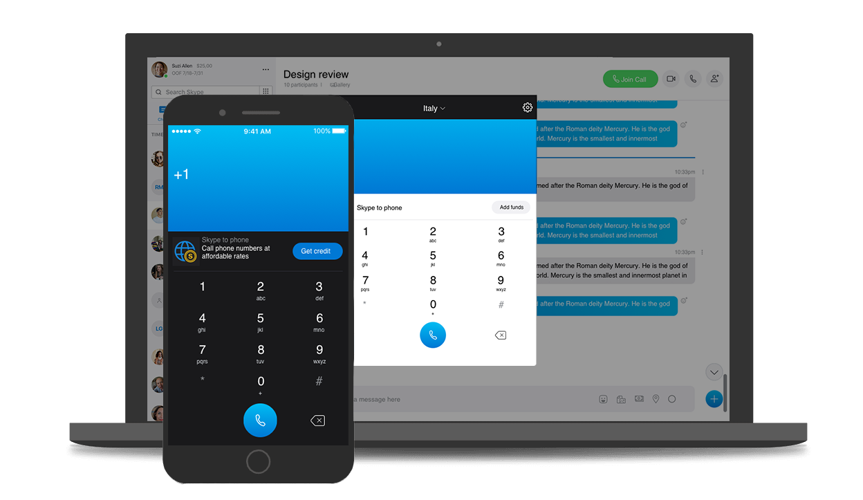 Skype Connect su dispositivo mobile e desktop