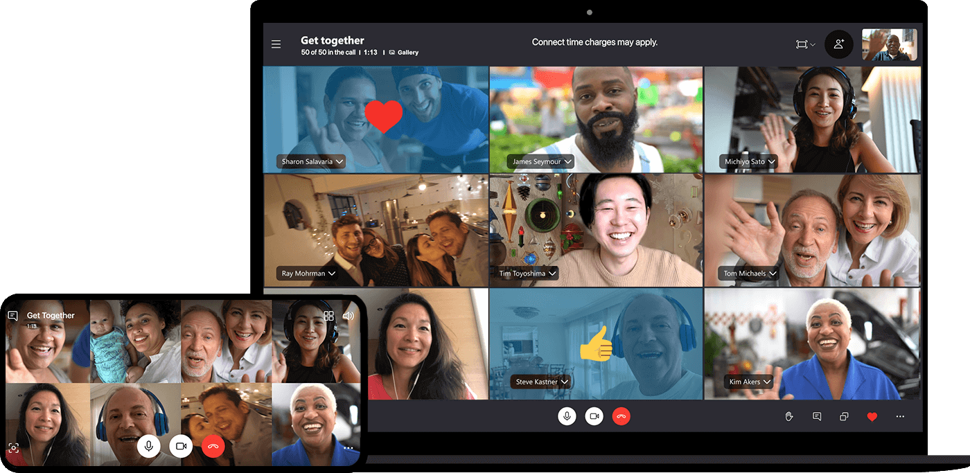 Besprechungen auf Desktopgeräten