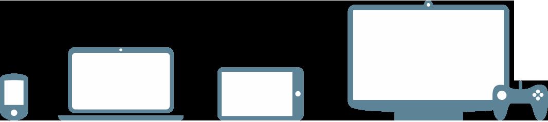 Smartphones, bærbare computere, tablets, computere, spilkonsoller