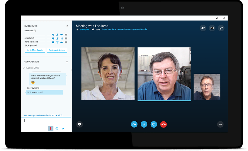 Skype Meetings on tablet devices