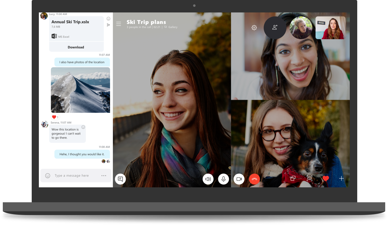 Picture of Skype video call