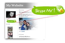 Кнопки Skype